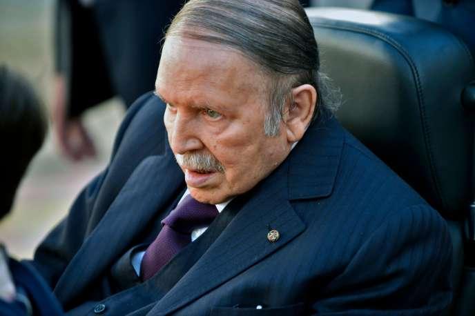 Le président algérien, Abdelaziz Bouteflika, lors de sa dernière apparition, à Alger, le 23 novembre 2017.