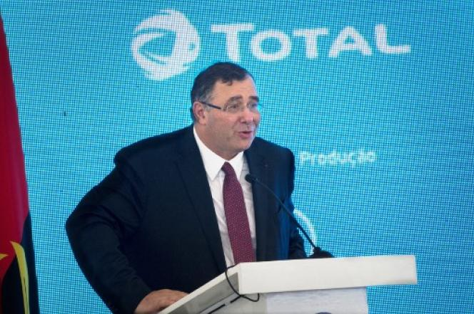 Le PDG de Total, Patrick Pouyanné, à Louanda, capitale de l'Angola, le 10 novembre 2018.