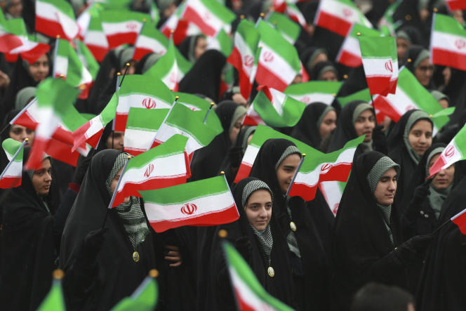 Manifestation à Téhéran, le 11 février, pour fêter les 40 ans de la révolution islamique.
