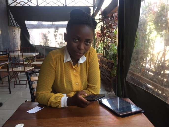 Sylvie Uhirwa, cofondatrice de l'application Tantine, le 1er février 2019 à Kigali.