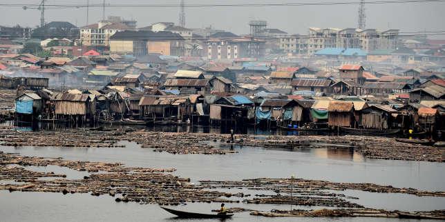 Le bidonville de Makoko, sur le littoral de Lagos, la capitale économique nigériane, en janvier2019.