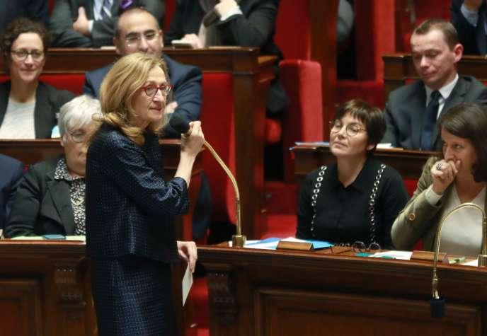 Nicole Belloubet devant l'Assemblée nationale, le 12 février.