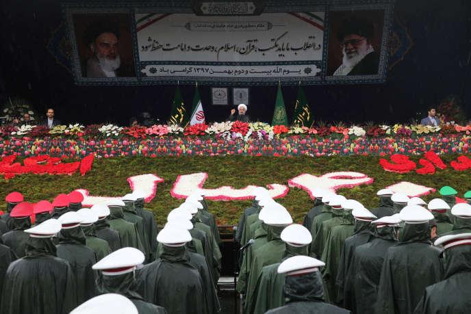 Discours d'Hassan Rohani à Téhéran, le 11 février.