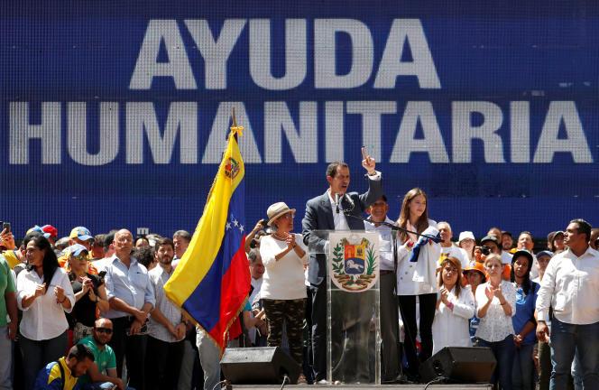 Juan Guaido, le 12 février, à Caracas (Venezuela).