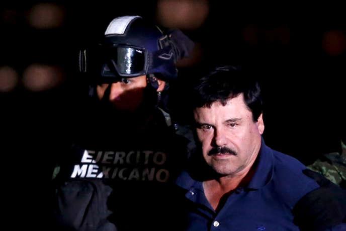 Joaquin «El Chapo» Guzman, escorté après son arrestation en 2016.