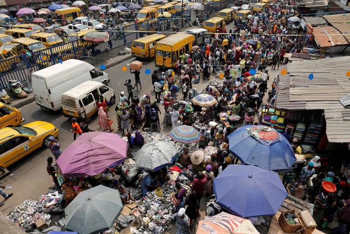 Marché d'Idumotade à Lagos, au Nigeria, le 11 février 2019.