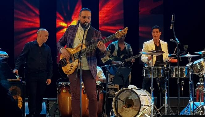 «Unity», le concert-hommage à Michael Jackson de Tony Succar, le 16 janvier 2019, au festival Jazz Plaza de La Havane, Cuba.