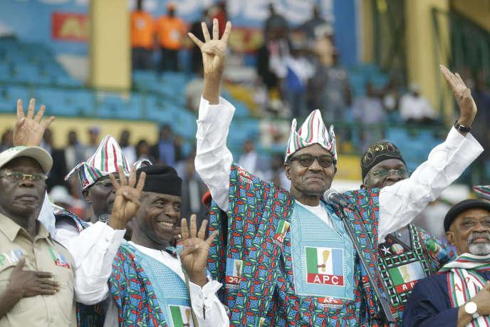 Le président nigérian sortant, Muhammadu Buhari, le 9 février, à Lagos.