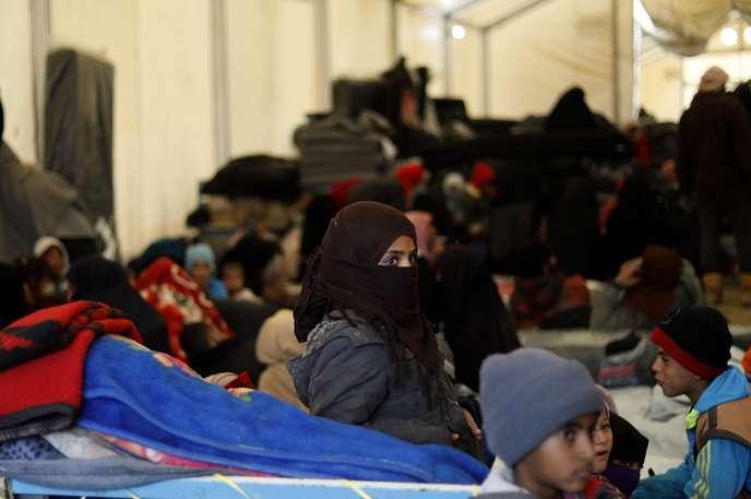 Le camp de déplacés d'Al-Hol (Syrie), où sont retenus les enfants et leurs mères qui ont fait l'objet de la décision de justice belge, le 8 décembre 2018.