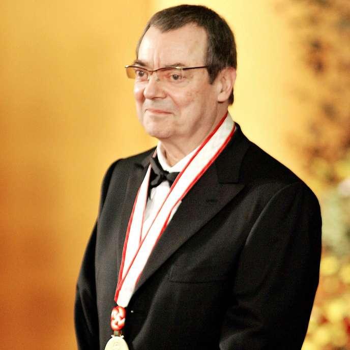 Le peintre Robert Ryman lors d'une cérémonie de remise de prix à Tokyo, en octobre 2005.