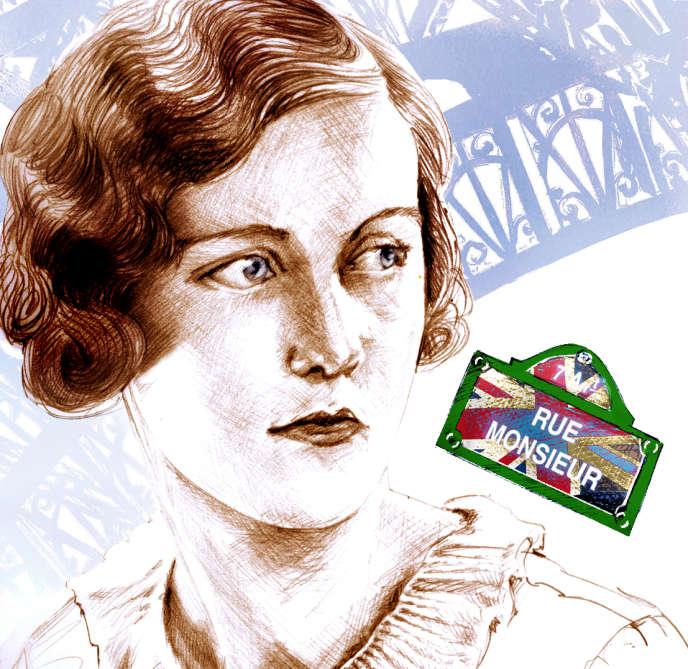 L'écrivaine britannique Nancy Mitford(1904-1973).