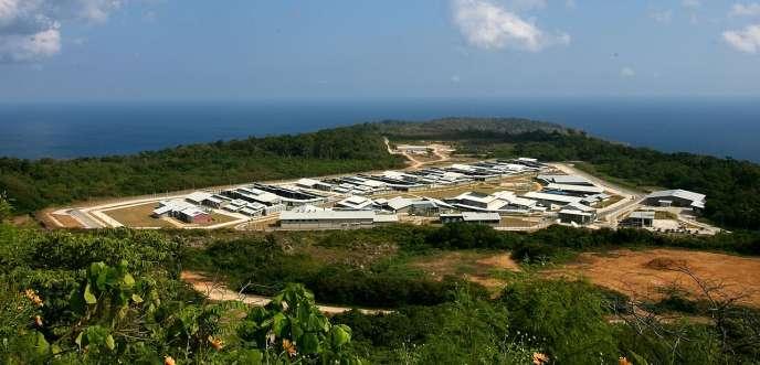 Le camp de rétention de réfugiés de l'île Christmas en Australie.
