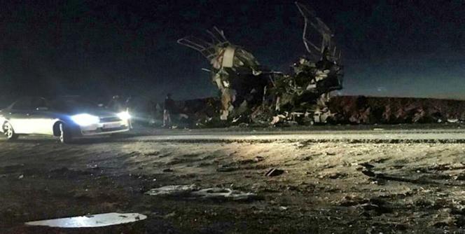 Le lieu de l'attaque,revendiquée par un groupe djihadiste, près de la ville deKhash(Sistan-Balouchistan), le 13 février.
