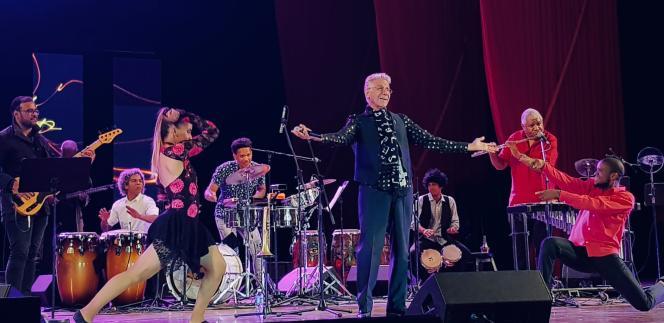 Bobby Carcassés, le 16 janvier 2019, au festival Jazz Plaza de La Havane, Cuba.