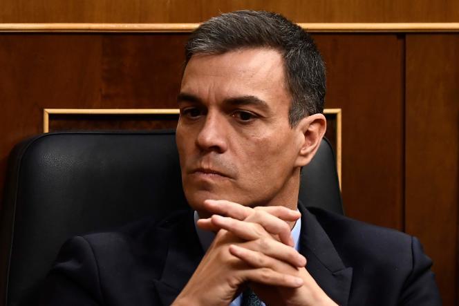 Le premier ministre espagnol, le socialiste Pedro Sanchez, le 13 février au Congrès des députés, à Madrid.