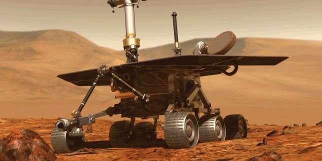 Une illustration du rover Opportunity sur la planète Mars.