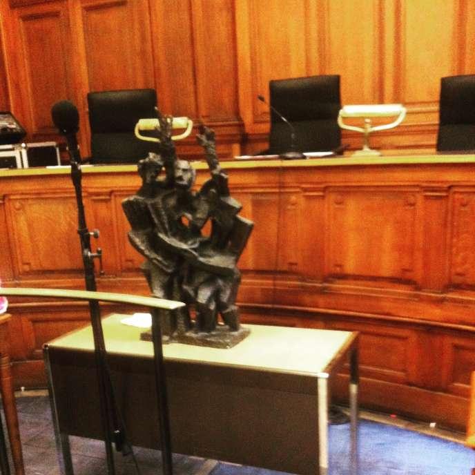 Une photographie du faux Zadkine publiée sur le compte Twitter deMe Béatrice Cohen, l'avocate de Pascal Payet.