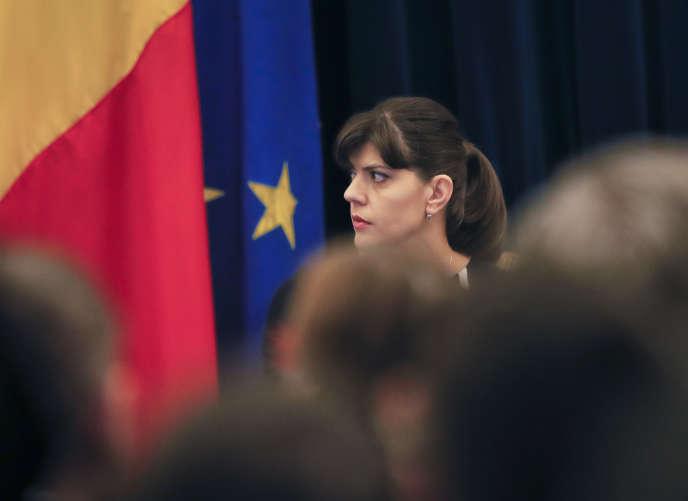 Laura Codruta Kövesi, à Bucarest le 23 février.