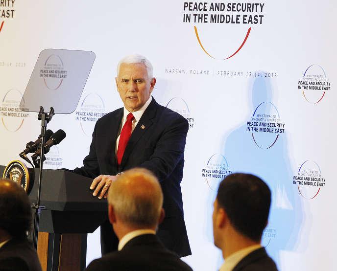 Le vice-président américain Mike Pence, le 14 février à Varsovie.