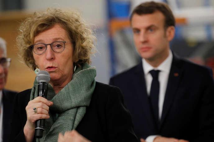 La ministre du travail, Muriel Pénicaud, le 14 février à Déols, dans l'Indre.