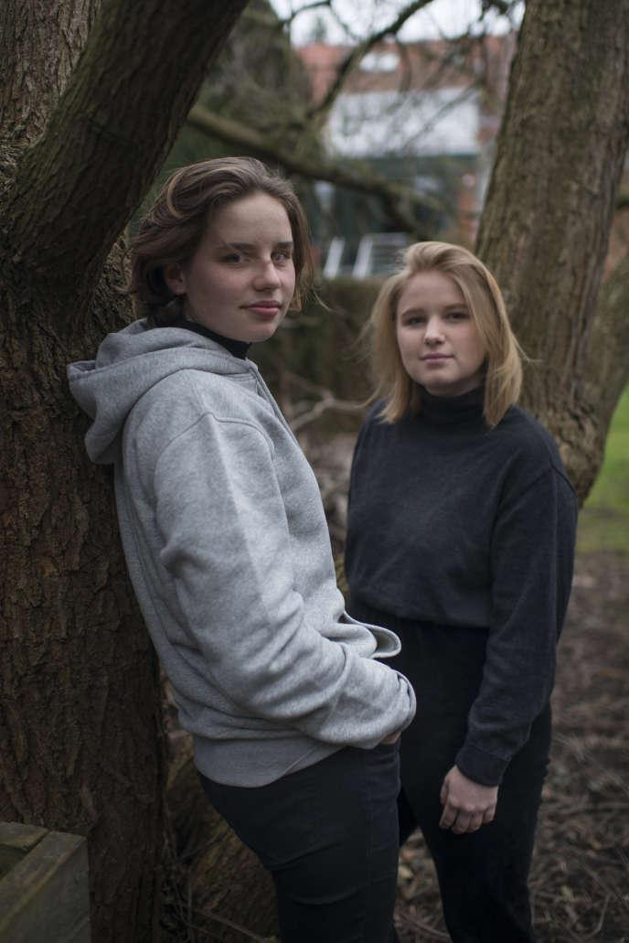 Anuna De Wever et Kyra Gantoisà Mortsel le 8 février.