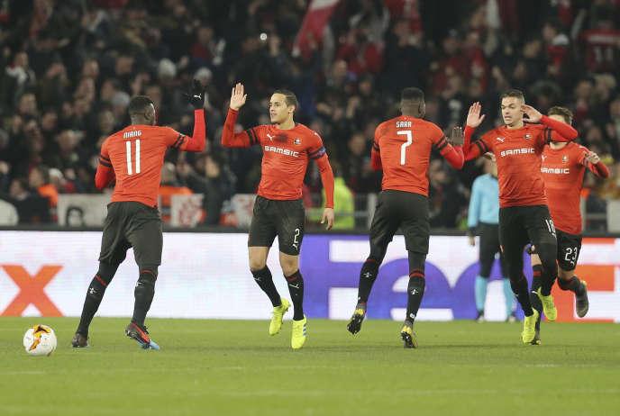 Pour la première fois de leur histoire, les Rennais sont en huitièmes de finale de la Ligue Europa.