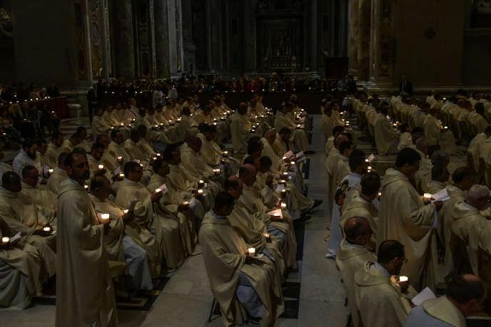 Une messe à la basilique Saint Pierre, à Rome, le 2 février.