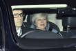 La première ministre britannique, Theresa May, quitte la Chambre des communes, à Londres, le 14 février 2019.