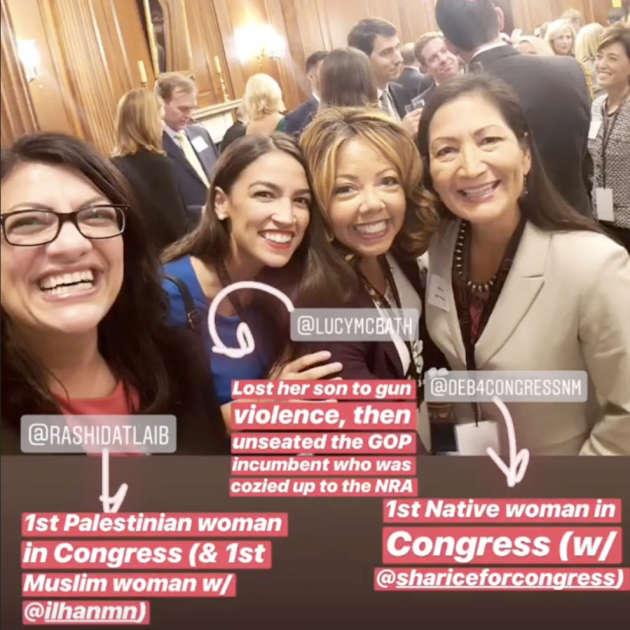 Capture d'écran du compte Instagram d'Alexandria Ocasio-Cortez.