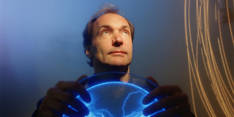 Tim Berners-Lee, British Physicist turned Programmer, Inventor of the World Wide Web in Boston, Massachusetts (Photo by Catrina Genovese/WireImage)