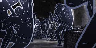 «Into the Night», une installation de Cleon Peterson, dans le cadre de l'exposition«Esprit souterrain », à Reims, en septembre 2018.