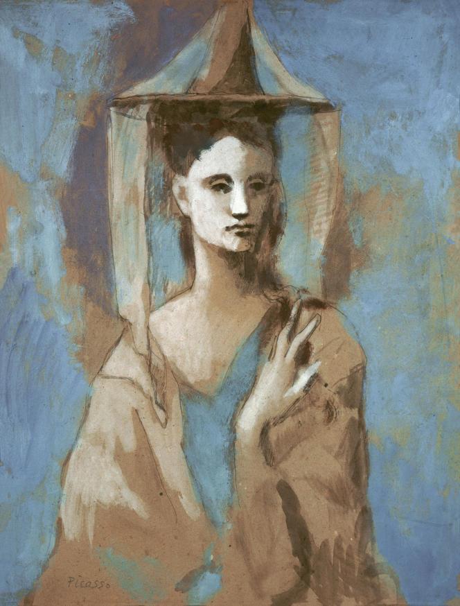 «Femme de l'Île de Majorque» (1905), de Picasso, gouache et aquarelle sur carton. Moscou, Musée des beaux-arts Pouchkine.