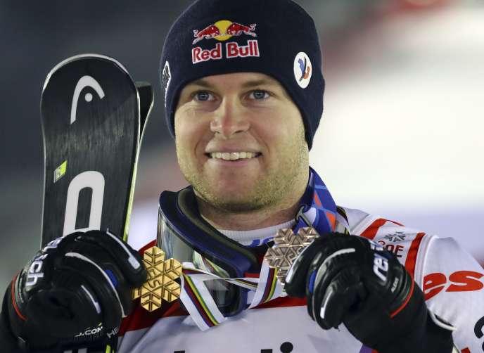 Alexis Pinturault a décroché vendredi la médaille de bronze du géant des Mondiaux d'Are (Suède), après son titre sur le combiné.