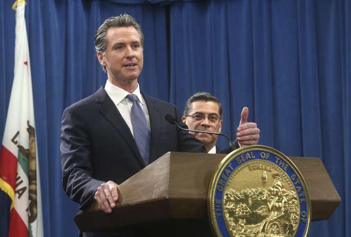 Le gouverneur de Californie, Gavin Newsom, le 15 février à Sacramento.