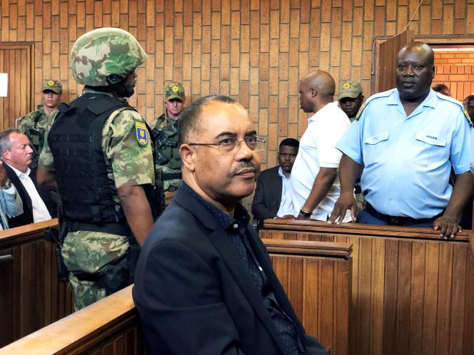 L'ancien ministre des finances du Mozambique, Manuel Chang, comparaît devant le tribunal lors d'une audience d'extradition à Johannesburg, en Afrique du Sud, le 8 janvier 2019.
