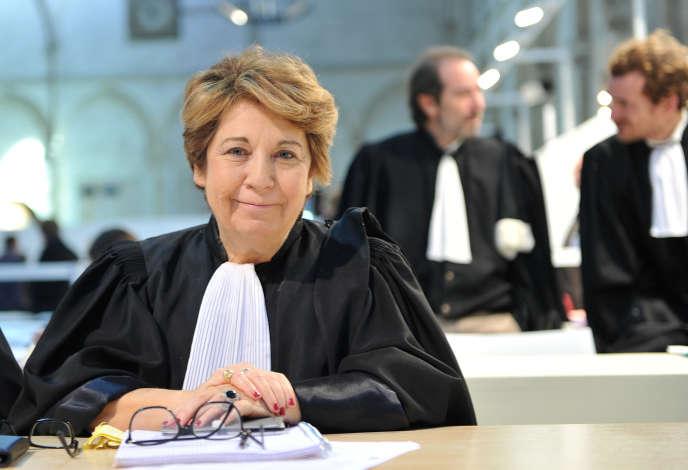 Corinne Lepage au palais de justice de Poitiers, en 2015.