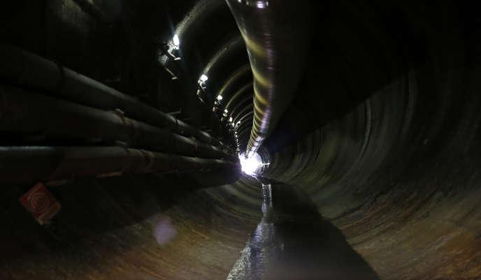 Les travaux du projet de tunnel entre Lyon et Turin, à Chiomonte, en Italie, le 12 février.