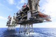 Une plate-fome pétrolière de BP en mer du Nord, en novembre 2018.