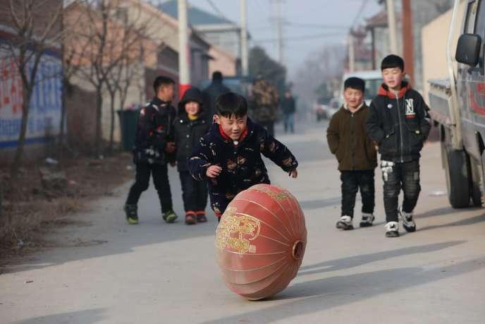 A Heze, dans la province de Shandong, dans l'est de la Chine, le 4 février.