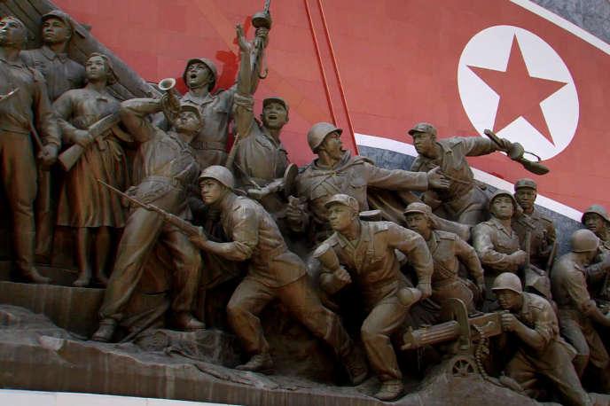 Sculpture de l'armée coréenne du Nord pendant la Guerre de Corée (1950-1953).