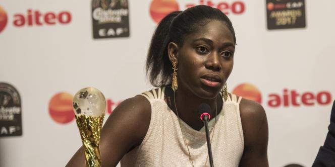 Asisat Oshoala à Accra (Ghana), en janvier 2018.