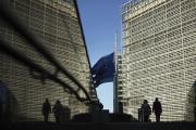 Devant la Commission européenne, à Bruxelles.