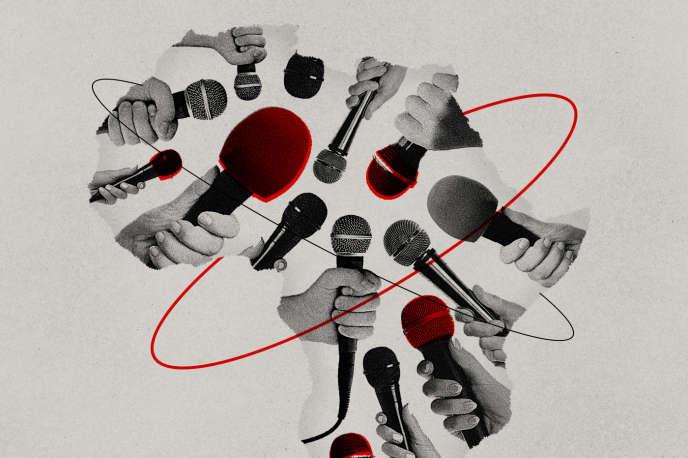 Minh họa Cuộc họp của các ý tưởng / Thế giới Châu Phi