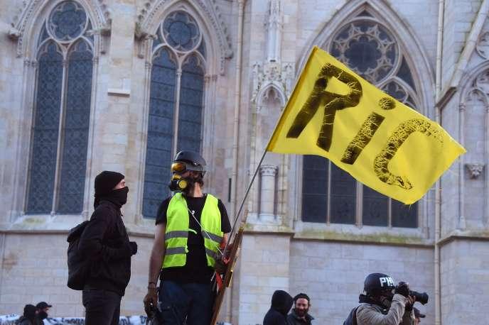 Manifestation de « gilets jaunes» à Bordeaux, le 16 février 2019.