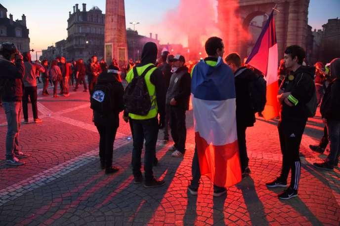 Manifestation des« gilets jaunes» à Bordeaux, le 16 février 2019.