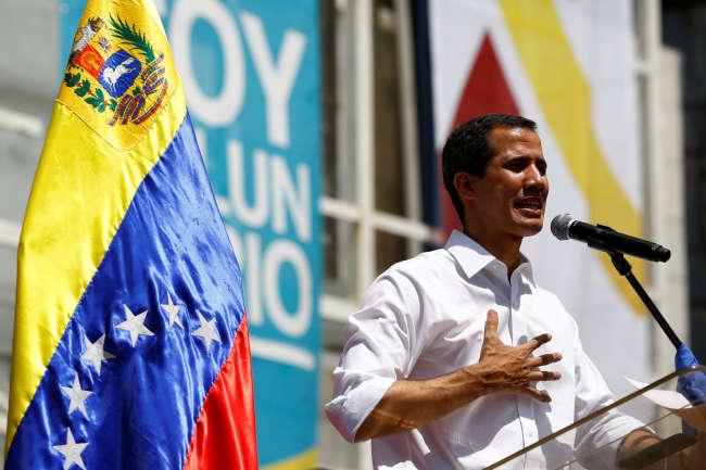 Juan Guaido, le 16 février à Caracas (Venezuela).