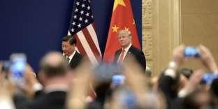 Le président américain, Donald Trump et Xi Jinping, son homologue chinois, à Pékin le 9 novembre 2017.
