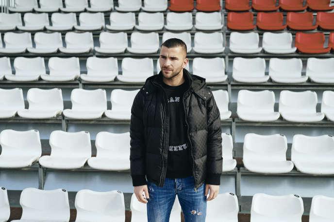 Anthony Lopes, au centre d'entraînement de l'OL, à Décines (Rhône), le 12 février.