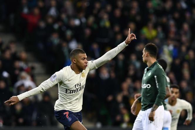 Kylian Mbappé a inscrit le seul but du match face à Saint-Etienne, le 17 février.