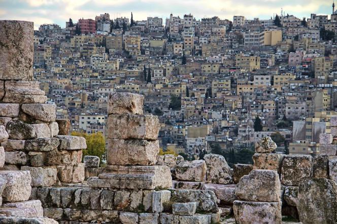 Vue d'Amman, en Jordanie, prise en 2017 depuis la citadelle romaine.